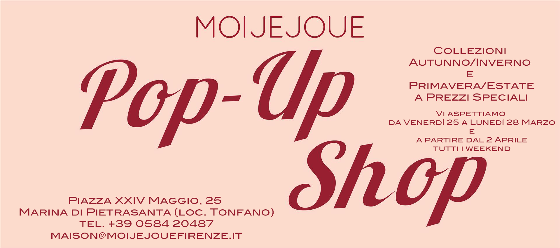 pop-up shop opening
