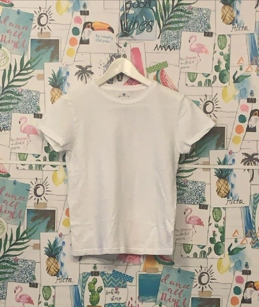 t-shirt bianca moijejoue